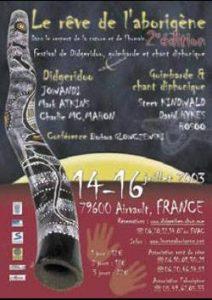 affiche du reve de l'aborigène de 2003