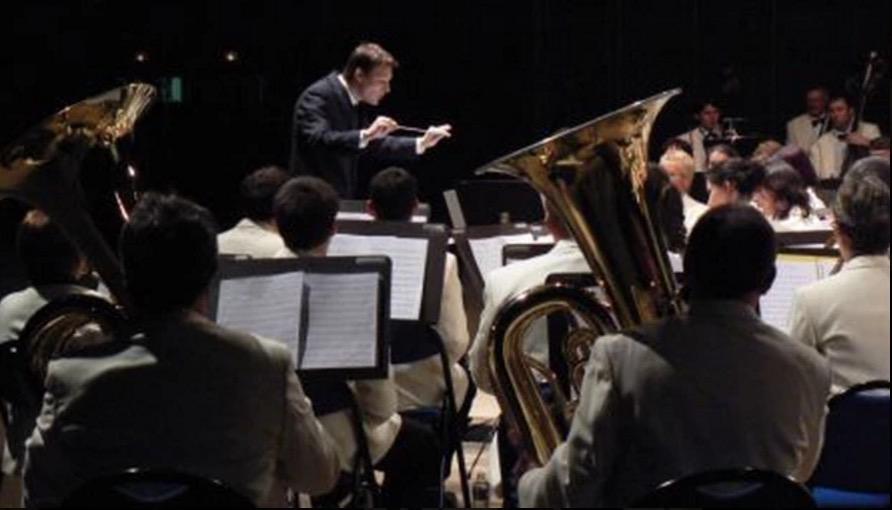 Thierry Weber, chef à l'époque de l'orchestre  de Chenove