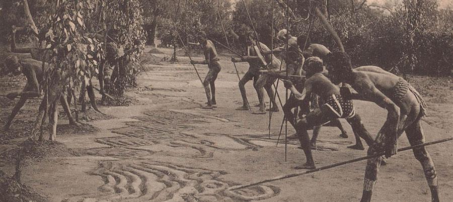 Une communauté des Aborigènes d'Australie