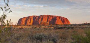 La montagne Uluru au centre de l'Australie