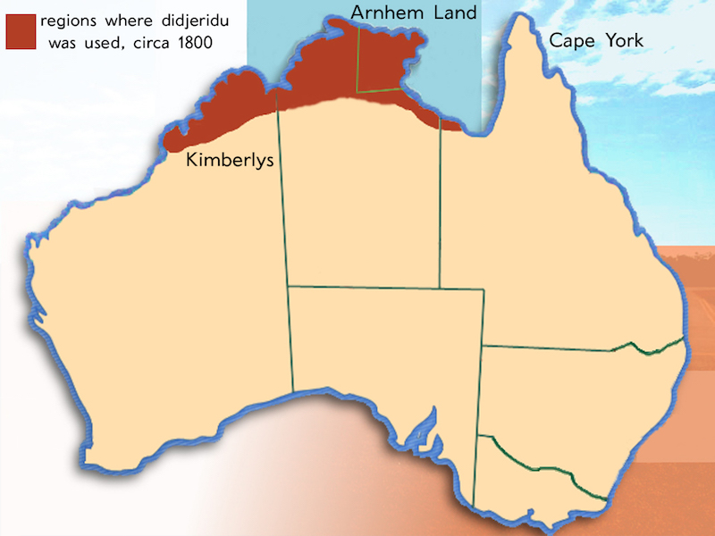carte du top end en Australie