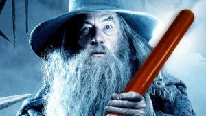 Gandalf with a didgeridoo