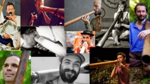 different pictures from European didgeridoo players