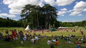 "the main stage of the didgeridoo festival ""Le rêve de l'Aborigène"""