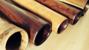 Differents didgeridoos bells