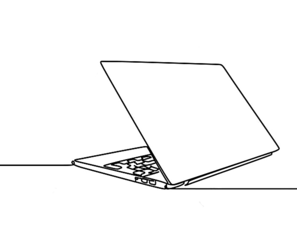 A computer drawning