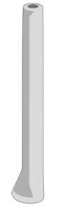 Diagram of a cylindrical didgeridoo