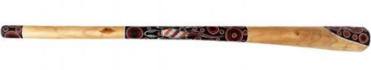 An other Teck didgeridoo with painting dug by a drill