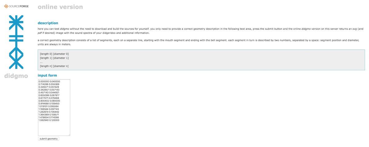 La page d'accueil de DidgMo