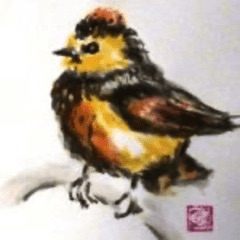 estampe d'un oiseau