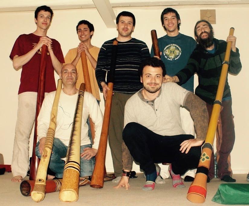 Stage de didgeridoo donné à Barcelone