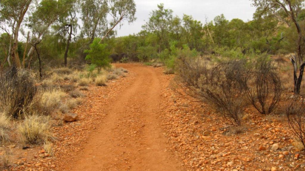 piste dans le Bush australien