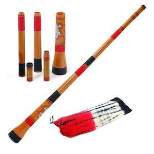 Travel didgeridoo en plusieurs parties et sa housse
